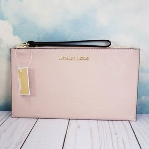 Michael Kors Large Zip Clutch Wristlet Ballet